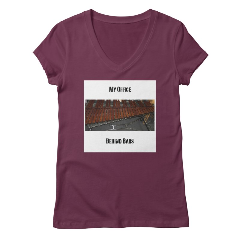 My Office Behind Bars Women's V-Neck by EdHartmanMusic Swag Shop!