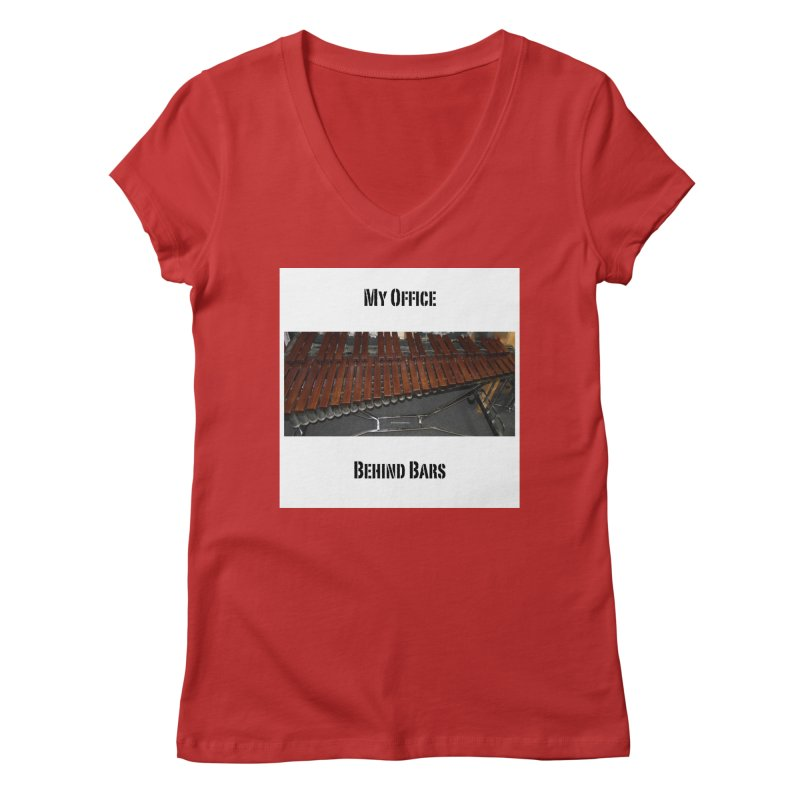 My Office Behind Bars Women's Regular V-Neck by EdHartmanMusic Swag Shop!