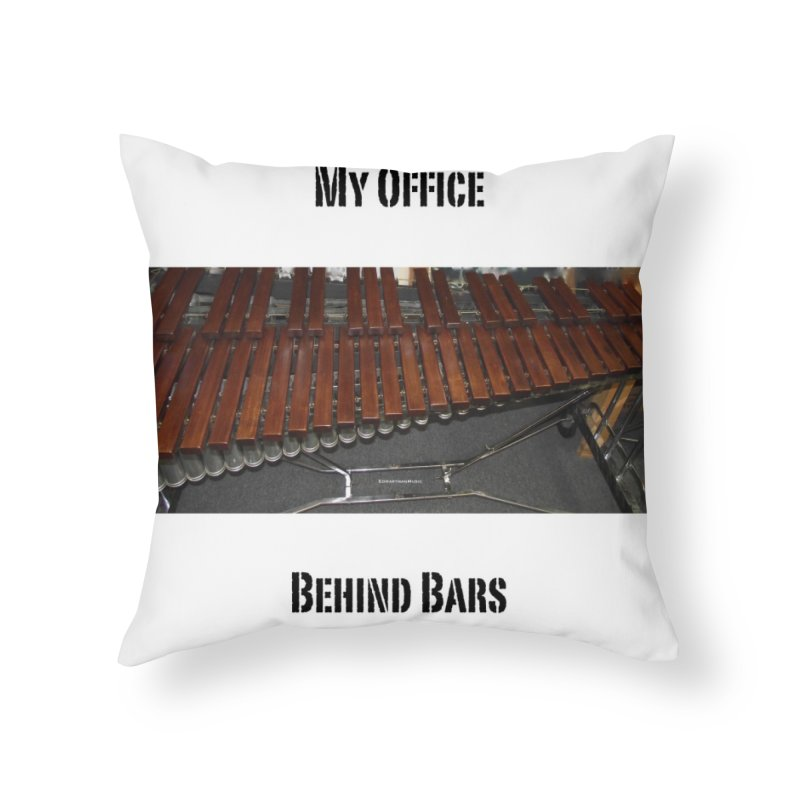 My Office Behind Bars Home Throw Pillow by EdHartmanMusic Swag Shop!