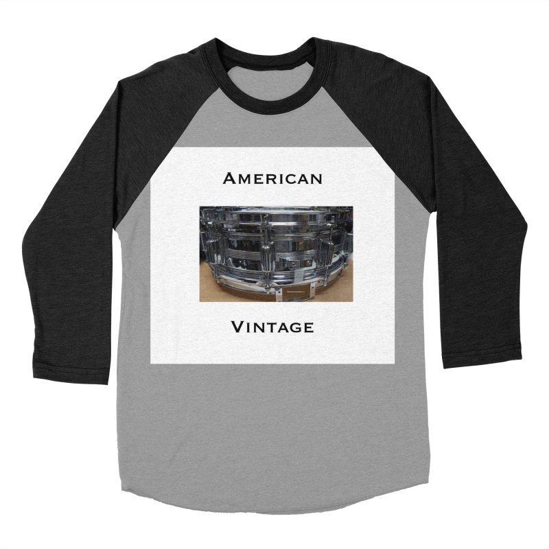 American Vintage Men's Baseball Triblend Longsleeve T-Shirt by EdHartmanMusic Swag Shop!