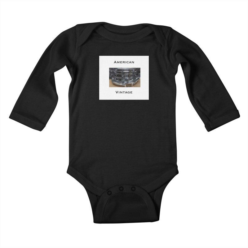 American Vintage Kids Baby Longsleeve Bodysuit by EdHartmanMusic Swag Shop!
