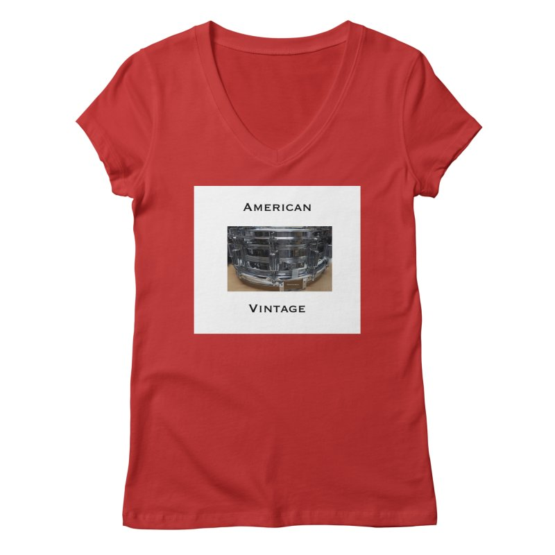 American Vintage Women's Regular V-Neck by EdHartmanMusic Swag Shop!