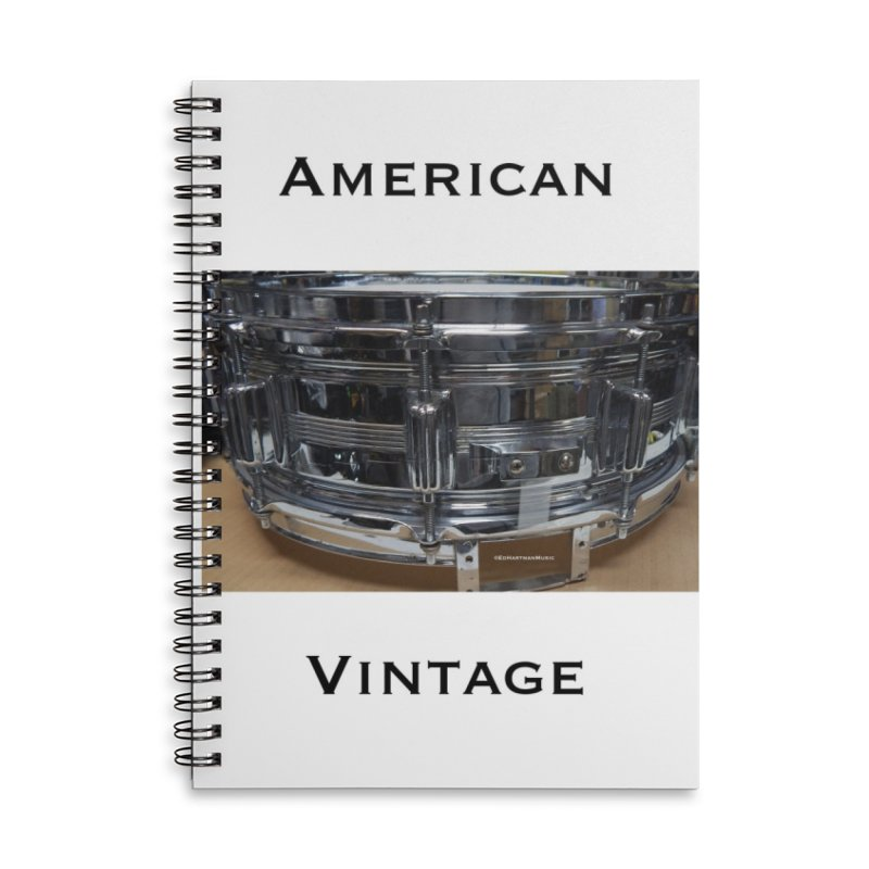 American Vintage Accessories Notebook by EdHartmanMusic Swag Shop!