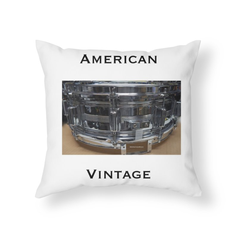 American Vintage Home Throw Pillow by EdHartmanMusic Swag Shop!