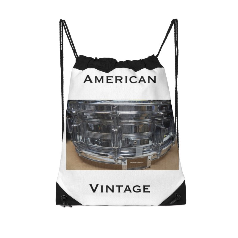 American Vintage Accessories Drawstring Bag Bag by EdHartmanMusic Swag Shop!