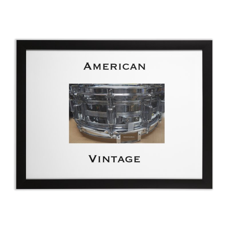 American Vintage Home Framed Fine Art Print by EdHartmanMusic Swag Shop!