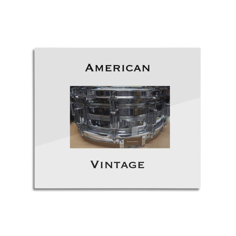 American Vintage Home Mounted Aluminum Print by EdHartmanMusic Swag Shop!