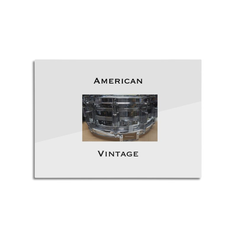 American Vintage Home Mounted Aluminum Print by EdHartmanMusic Swag Shop!