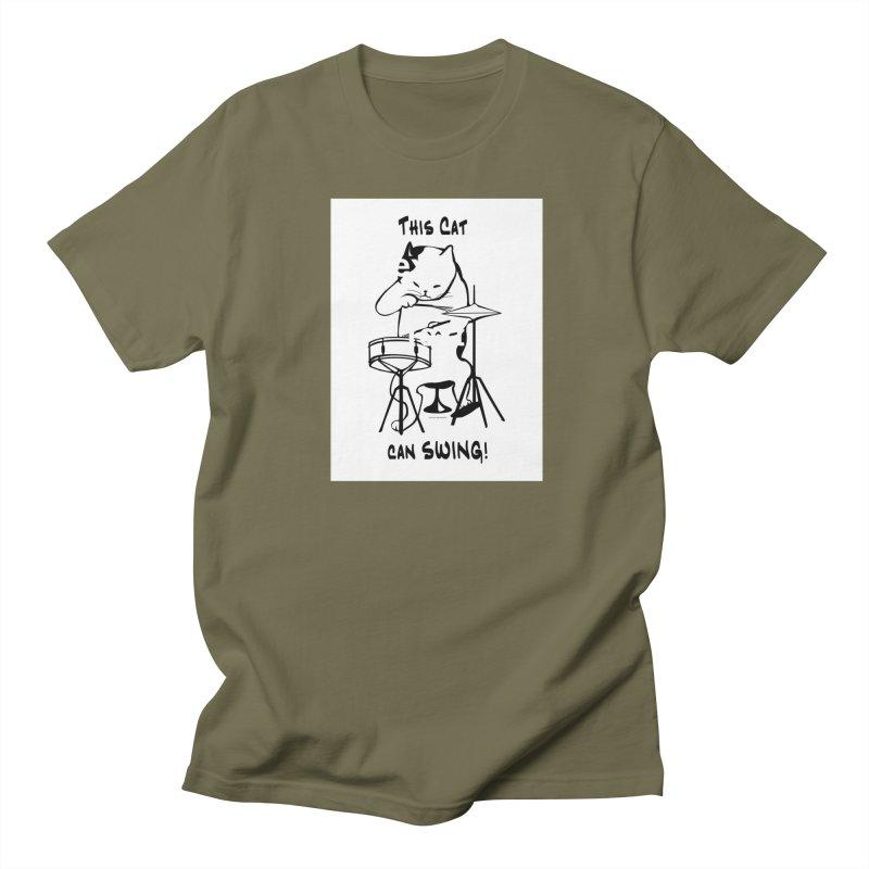 THIS CAT CAN SWING! Men's T-Shirt by EdHartmanMusic Swag Shop!