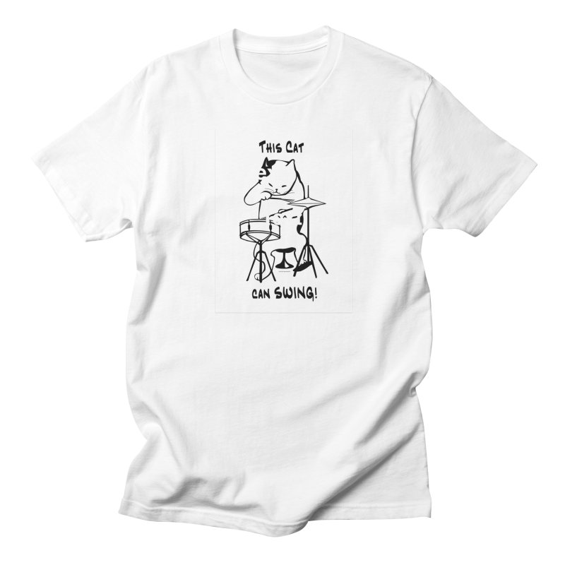 THIS CAT CAN SWING! Men's T-Shirt by EdHartmanMusic Swag Shop!