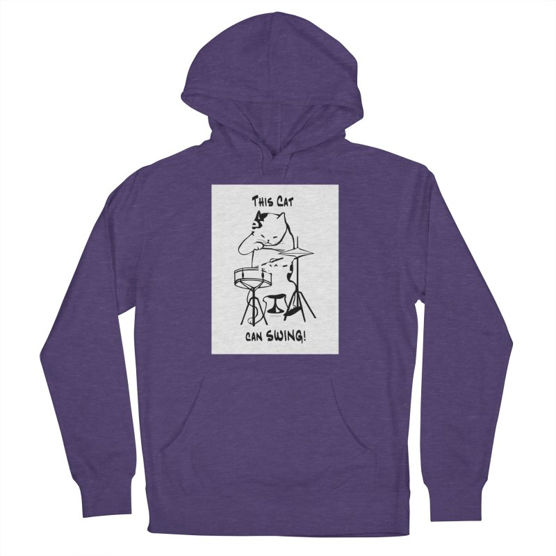 THIS CAT CAN SWING! Men's Pullover Hoody by EdHartmanMusic Swag Shop!