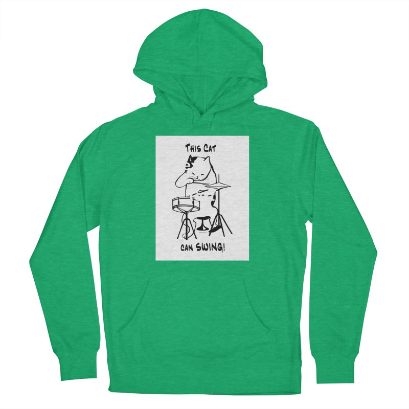 THIS CAT CAN SWING! Men's French Terry Pullover Hoody by EdHartmanMusic Swag Shop!