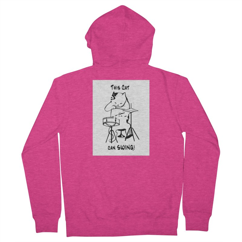 THIS CAT CAN SWING! Women's Zip-Up Hoody by EdHartmanMusic Swag Shop!