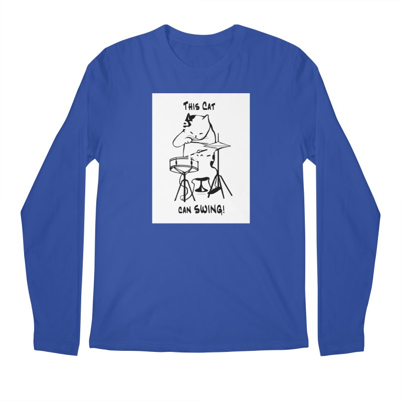 THIS CAT CAN SWING! Men's Regular Longsleeve T-Shirt by EdHartmanMusic Swag Shop!