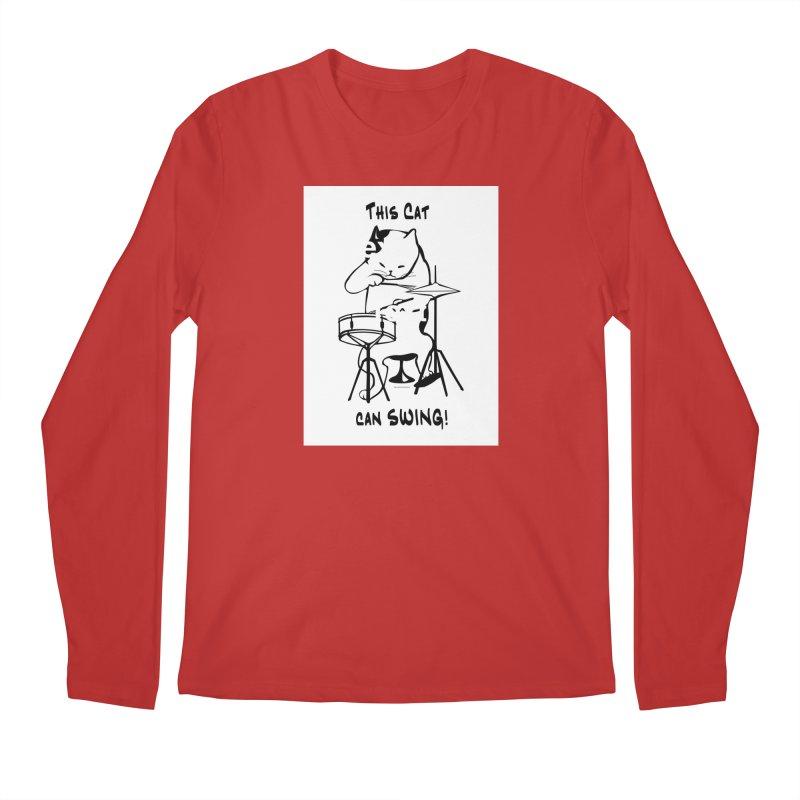 THIS CAT CAN SWING! Men's Regular Longsleeve T-Shirt by EdHartmanMusic Swag Shop!