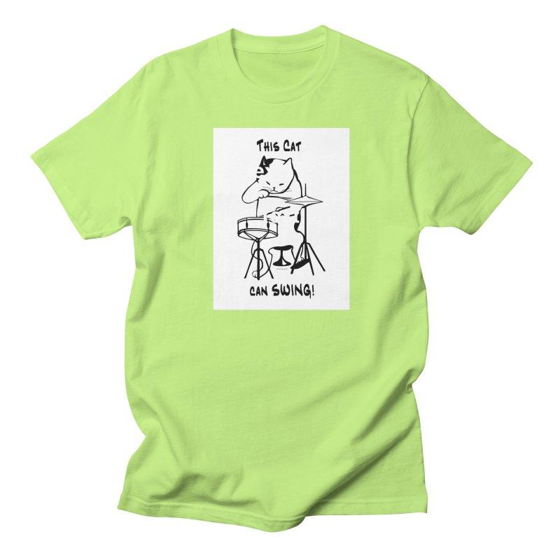 THIS CAT CAN SWING! Women's Regular Unisex T-Shirt by EdHartmanMusic Swag Shop!