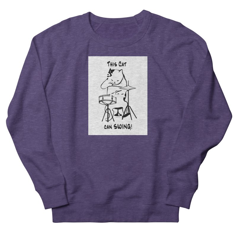 THIS CAT CAN SWING! Men's Sweatshirt by EdHartmanMusic Swag Shop!