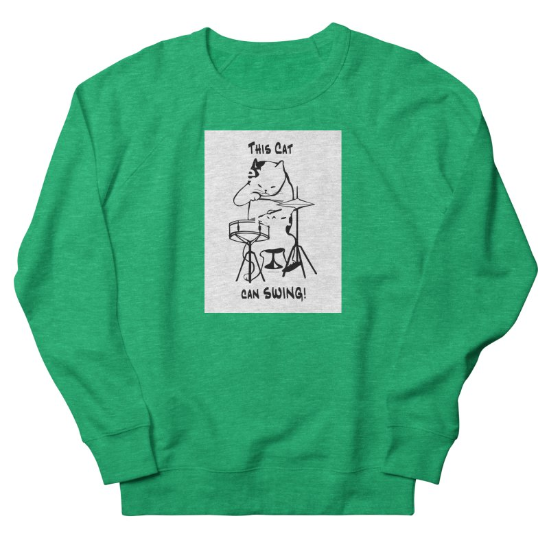 THIS CAT CAN SWING! Men's French Terry Sweatshirt by EdHartmanMusic Swag Shop!