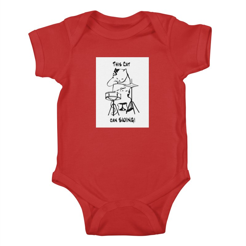 THIS CAT CAN SWING! Kids Baby Bodysuit by EdHartmanMusic Swag Shop!