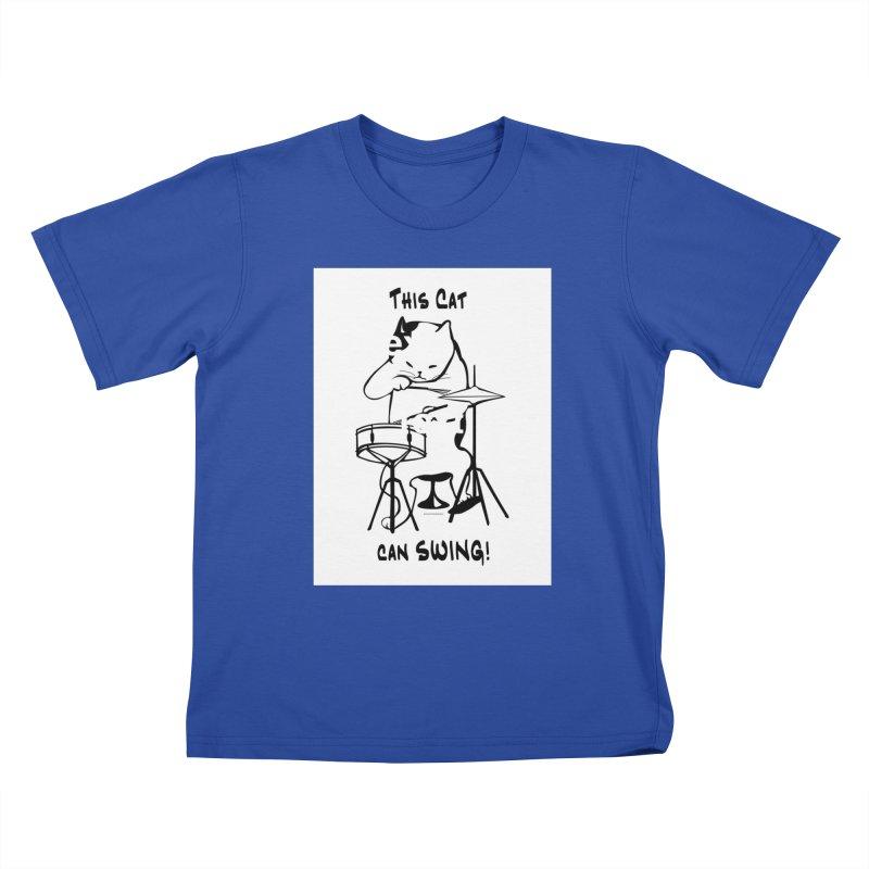 THIS CAT CAN SWING! Kids T-Shirt by EdHartmanMusic Swag Shop!
