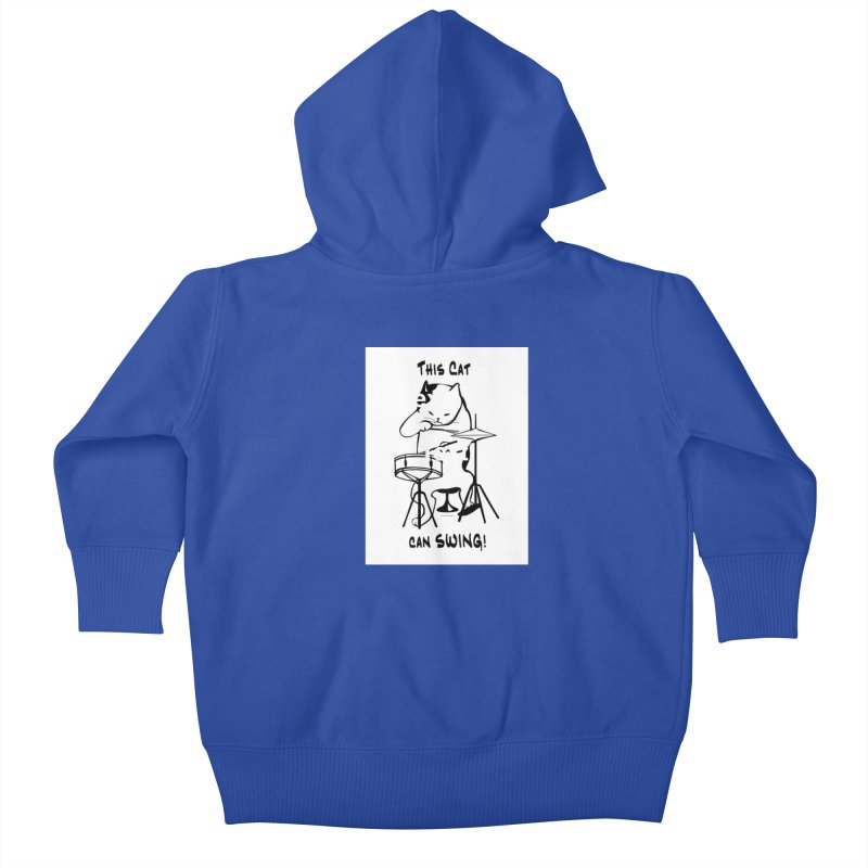 THIS CAT CAN SWING! Kids Baby Zip-Up Hoody by EdHartmanMusic Swag Shop!