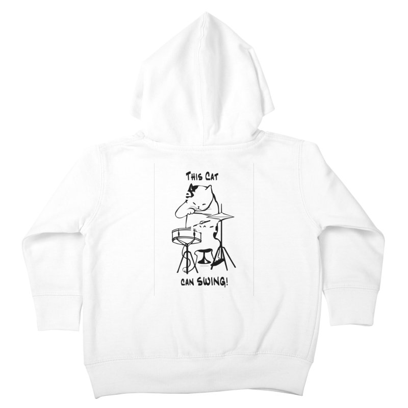 THIS CAT CAN SWING! Kids Toddler Zip-Up Hoody by EdHartmanMusic Swag Shop!