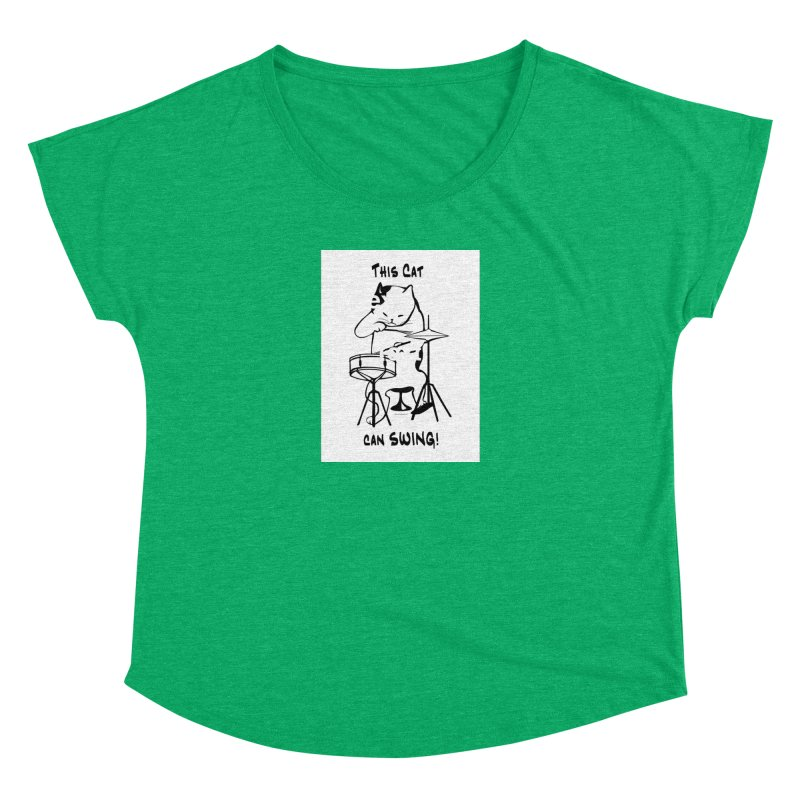 THIS CAT CAN SWING! Women's Scoop Neck by EdHartmanMusic Swag Shop!