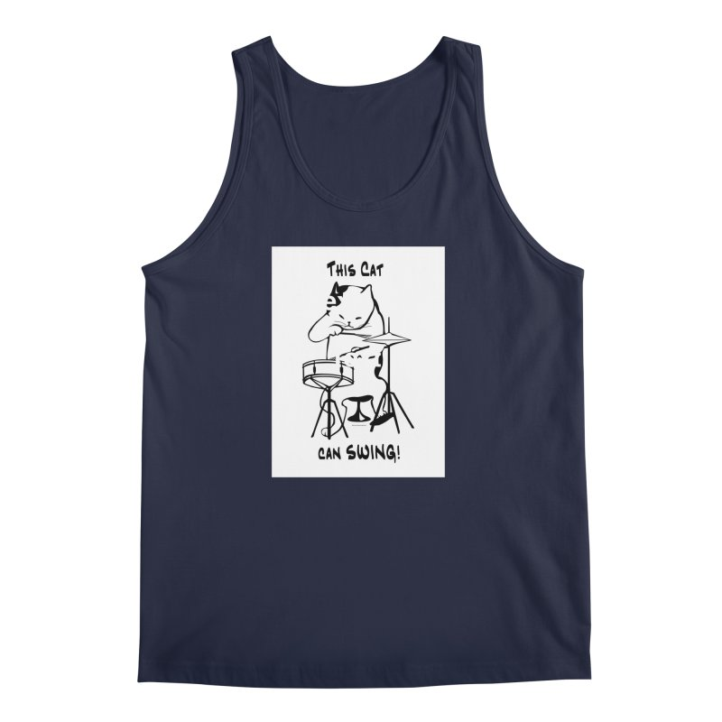 THIS CAT CAN SWING! Men's Regular Tank by EdHartmanMusic Swag Shop!
