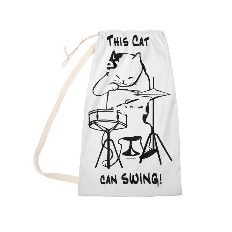 THIS CAT CAN SWING! Accessories Laundry Bag Bag by EdHartmanMusic Swag Shop!