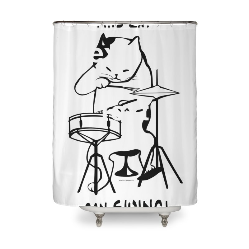 THIS CAT CAN SWING! Home Shower Curtain by EdHartmanMusic Swag Shop!