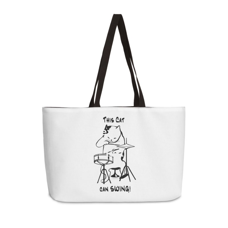 THIS CAT CAN SWING! Accessories Weekender Bag Bag by EdHartmanMusic Swag Shop!