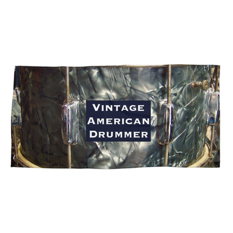 Vintage American Drummer Accessories Beach Towel by EdHartmanMusic Swag Shop!