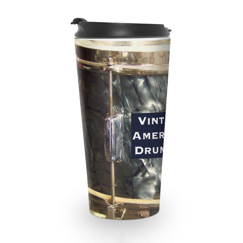 Vintage American Drummer Accessories Travel Mug by EdHartmanMusic Swag Shop!