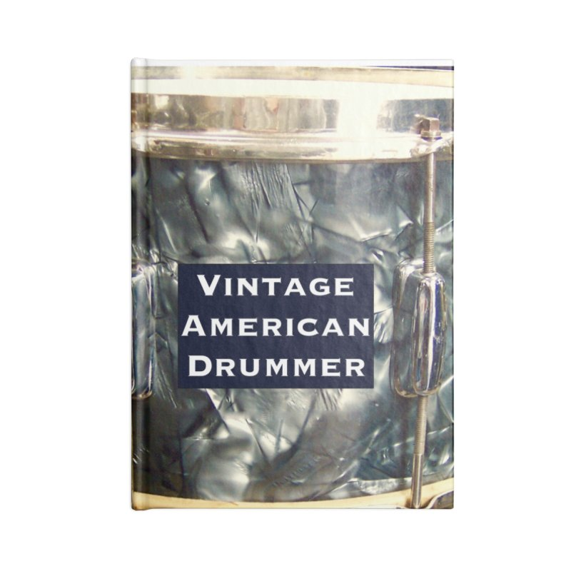 Vintage American Drummer Accessories Lined Journal Notebook by EdHartmanMusic Swag Shop!