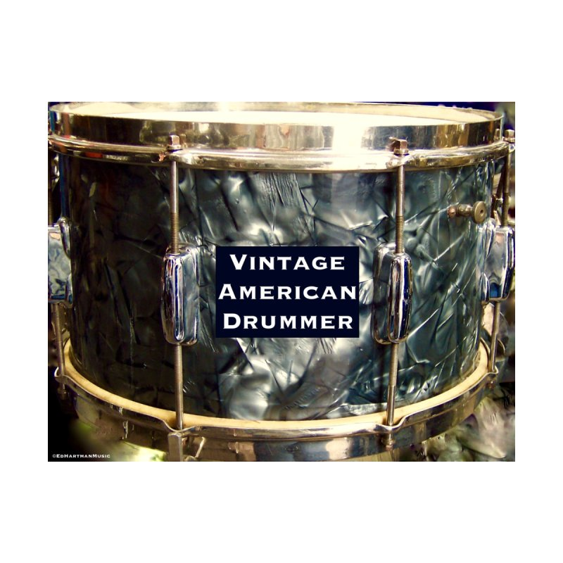 Vintage American Drummer Accessories Water Bottle by EdHartmanMusic Swag Shop!