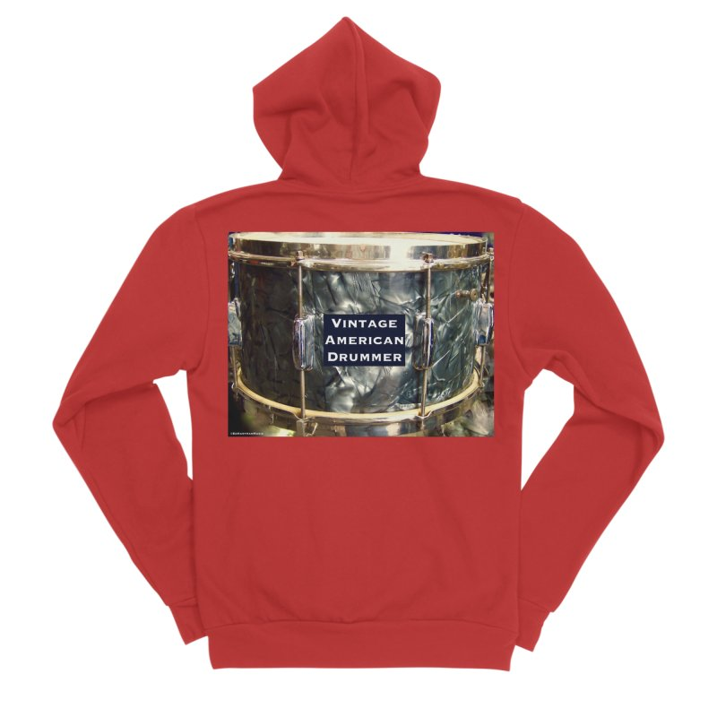 Vintage American Drummer Men's Zip-Up Hoody by EdHartmanMusic Swag Shop!