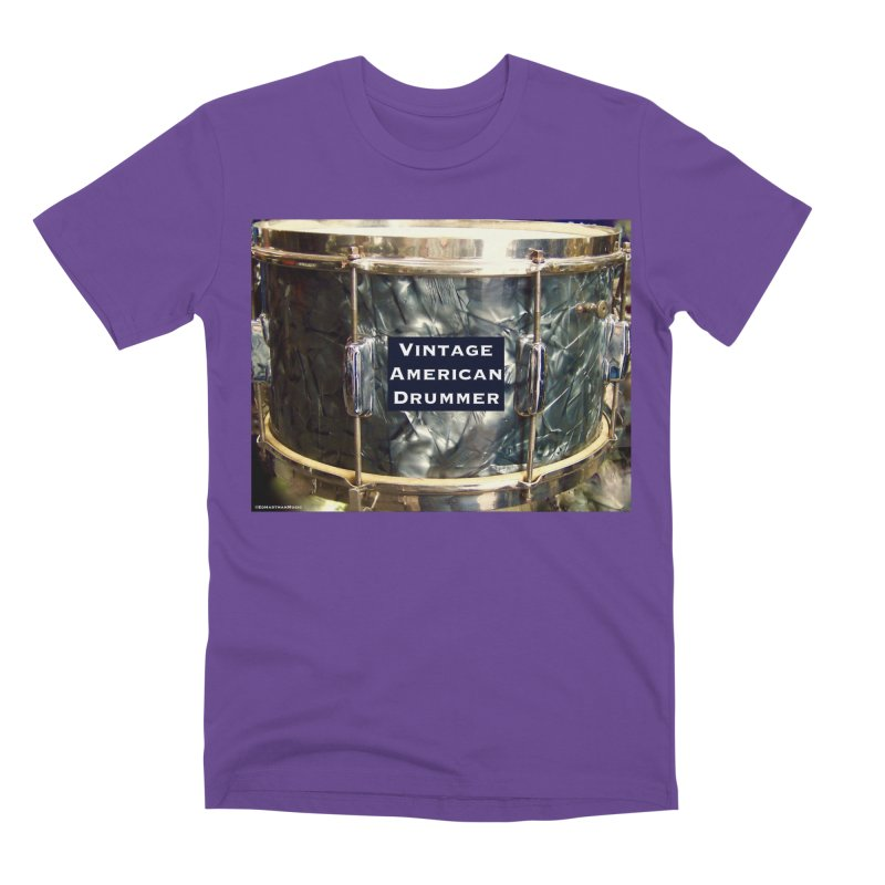 Vintage American Drummer Men's Premium T-Shirt by EdHartmanMusic Swag Shop!