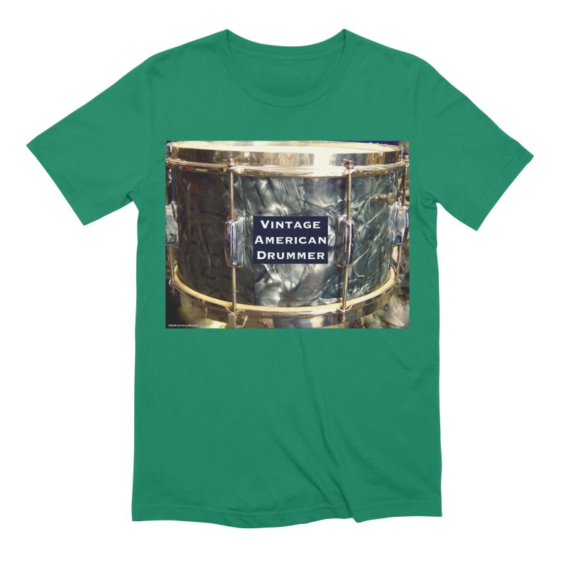 Vintage American Drummer Men's Extra Soft T-Shirt by EdHartmanMusic Swag Shop!