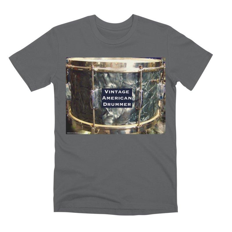 Vintage American Drummer Men's Premium T-Shirt by EdHartmanMusic Swag Shop!
