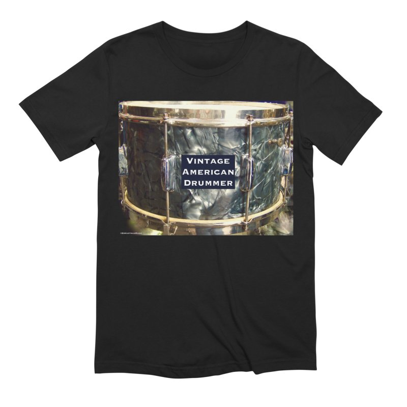 Vintage American Drummer Men's Extra Soft T-Shirt by EdHartmanMusic Swag Shop!