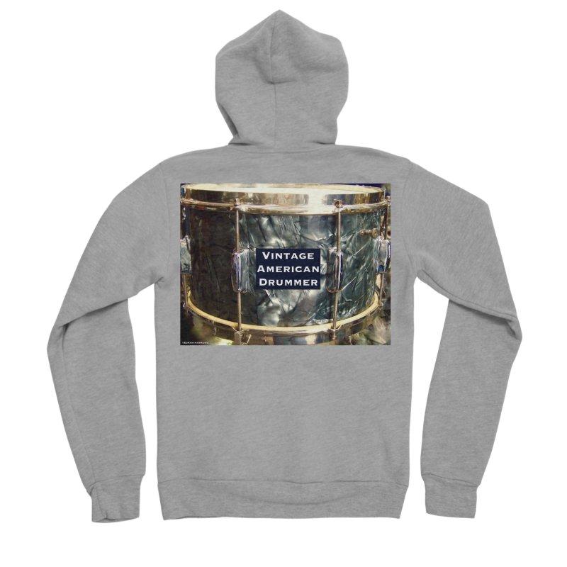 Vintage American Drummer Men's Sponge Fleece Zip-Up Hoody by EdHartmanMusic Swag Shop!
