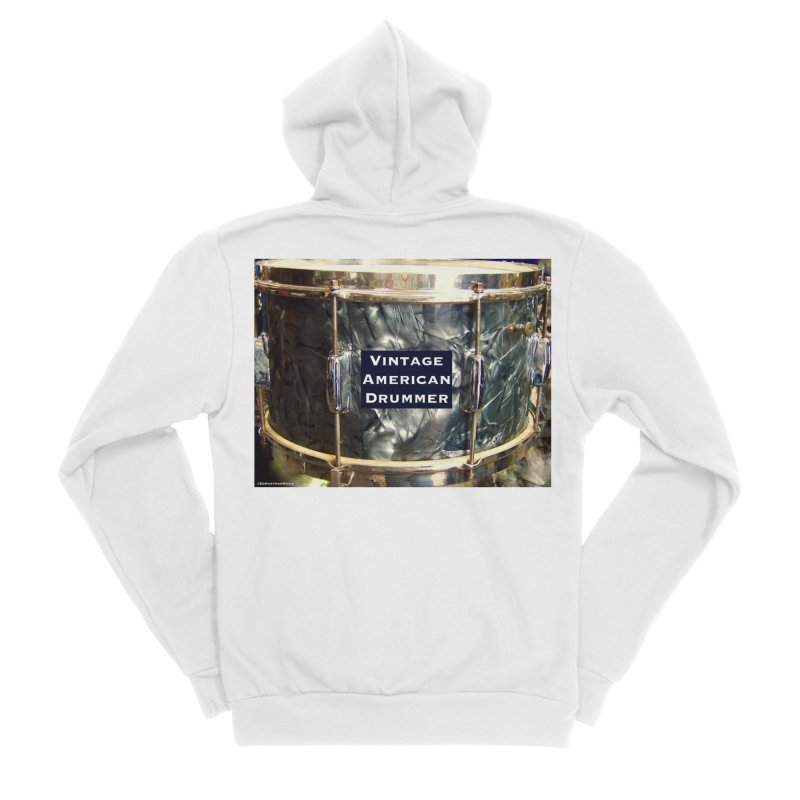 Vintage American Drummer Men's Sponge Fleece Zip-Up Hoody by EdHartmanMusic Swag Shop!