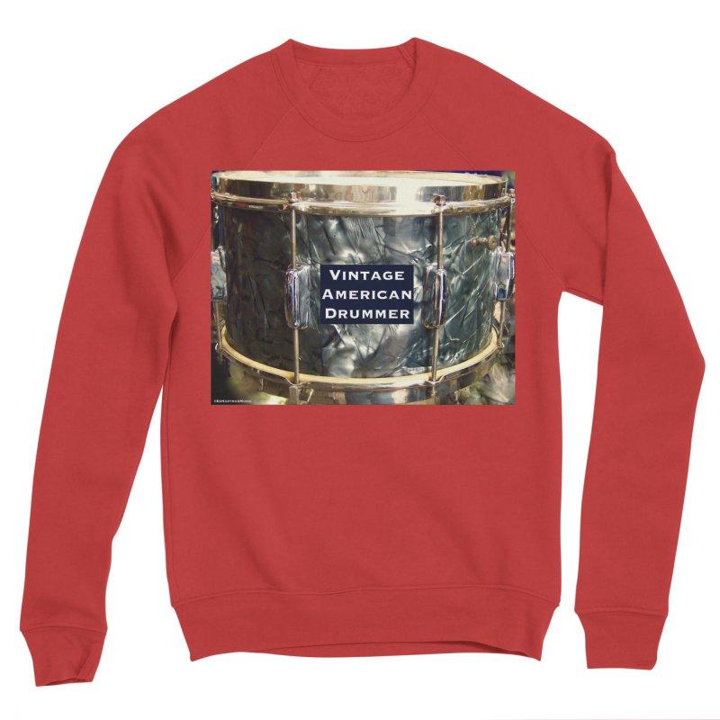Vintage American Drummer Men's Sponge Fleece Sweatshirt by EdHartmanMusic Swag Shop!