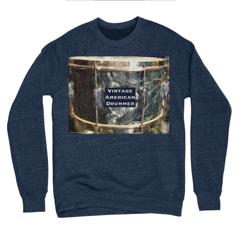 Vintage American Drummer Men's Sponge Fleece Sweatshirt by EdHartmanMusic Swag Shop!
