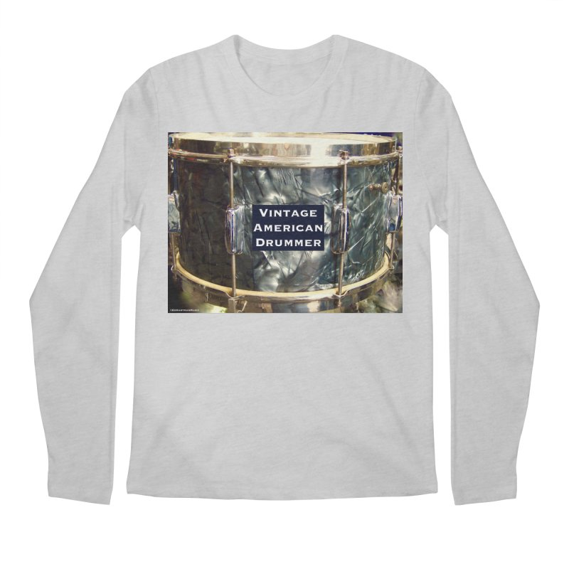 Vintage American Drummer Men's Longsleeve T-Shirt by EdHartmanMusic Swag Shop!