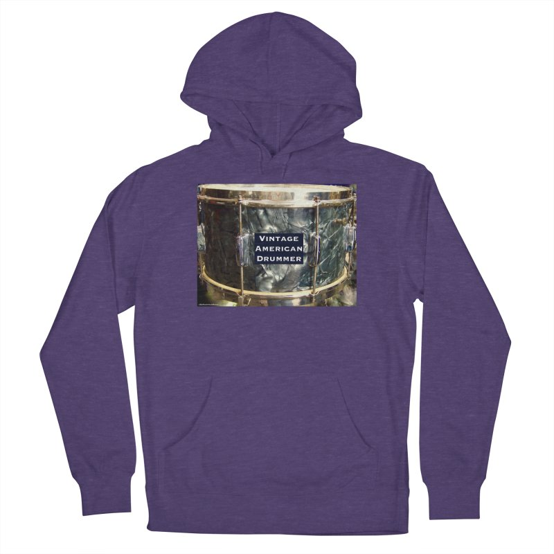 Vintage American Drummer Women's French Terry Pullover Hoody by EdHartmanMusic Swag Shop!