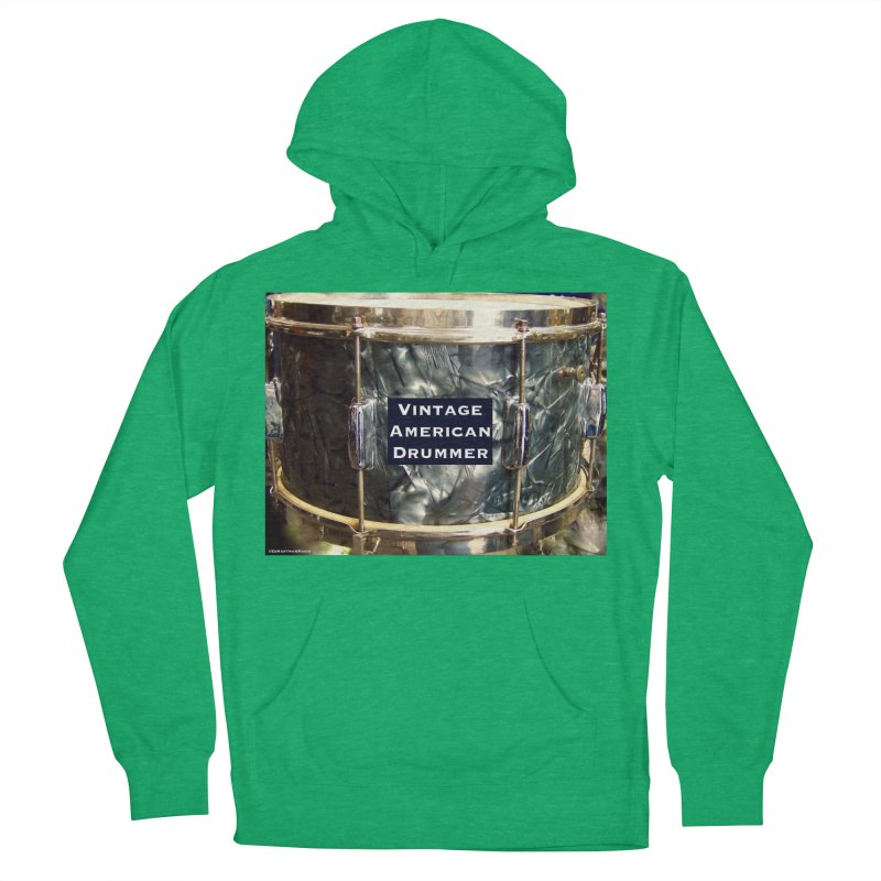 Vintage American Drummer Men's French Terry Pullover Hoody by EdHartmanMusic Swag Shop!