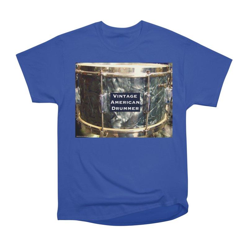 Vintage American Drummer Women's Heavyweight Unisex T-Shirt by EdHartmanMusic Swag Shop!
