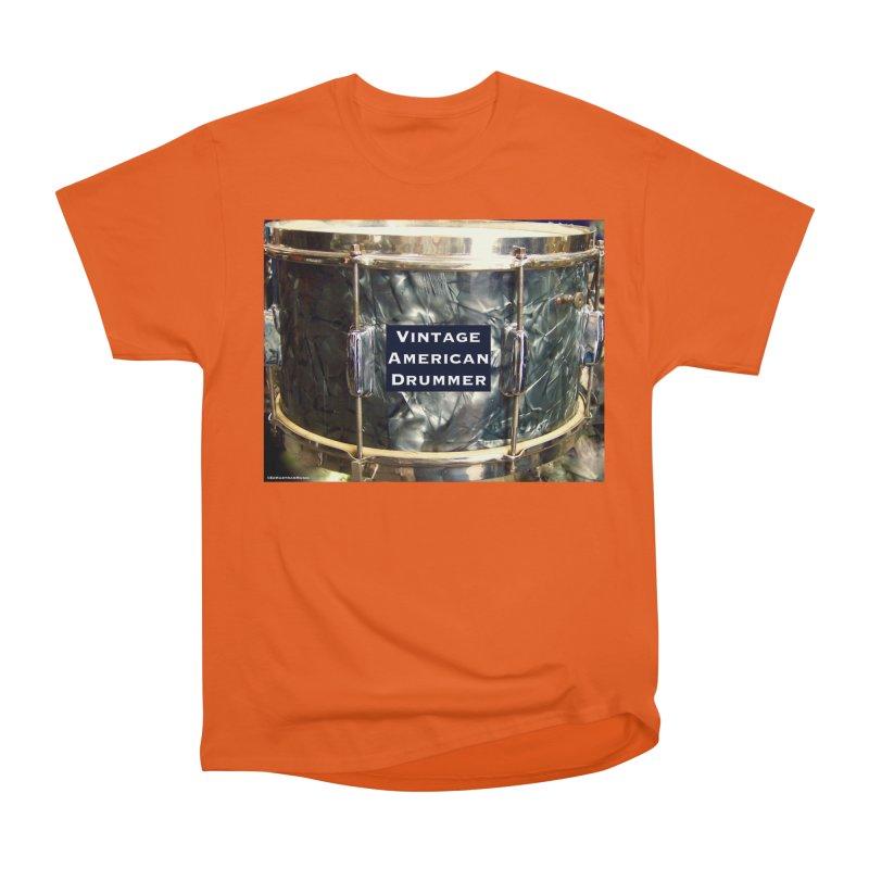 Vintage American Drummer Men's Heavyweight T-Shirt by EdHartmanMusic Swag Shop!