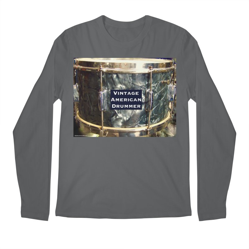 Vintage American Drummer Men's Regular Longsleeve T-Shirt by EdHartmanMusic Swag Shop!